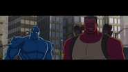A-Bomb and Red Hulk