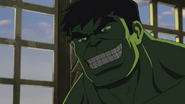 Hulk is happy