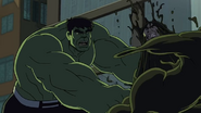 Skaar in the venom and hulk is talking to him