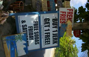 Jamaican Jerk Stand Outside Bodden Town Grand Cayman