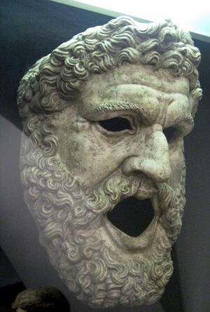Mask from Melpomene statue