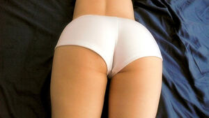 Stock Photo of Female Buttocks Clothed