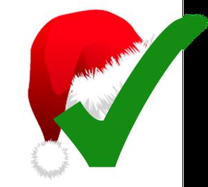 Christmas check mark