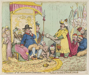 Presentation of the Mahometan credentials - or - the final resource of French atheists by James Gillray 702px