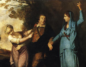 Reynolds-Garrick between tragedy and comedy