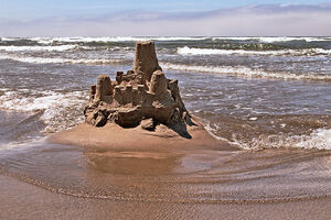 Sand castle, Cannon Beach