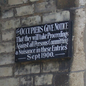 The Occupiers Give Notice - geograph.org.uk - 856283