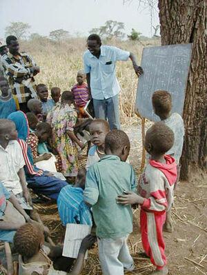 Village school in Northern Bahr el Ghazal, Sudan
