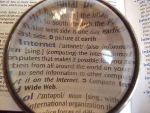 Dictionary through lens