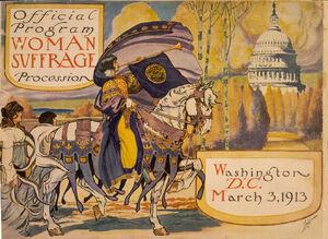 Official program Woman Suffrage Procession Washington D.C. March 3 1913