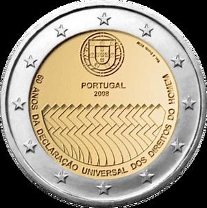 Commemorative coin Portugal 2008