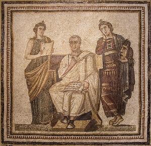 Virgil Mosaic Bardo Museum Tunis 618px