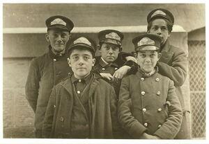 A few of the messengers Western Union, Hartford, Conn 1909