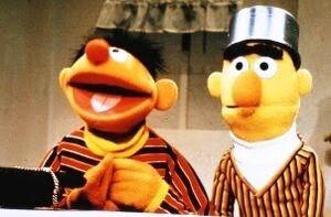 Bert with pot on head