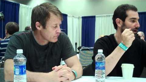 Mark Valley (Christopher Chance) and Matt Miller of Human Target at WonderCon 2011