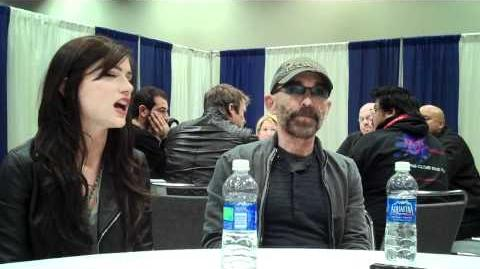 Jackie Earle Haley and Janet Montgomery from Human Target at WonderCon 2011