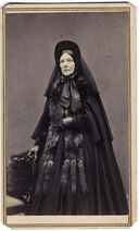 WOMAN IN MOURNING W. FURS CDV 1860'S