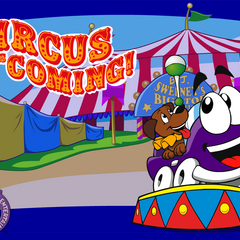 Official wallpaper from Putt-Putt Joins the Circus from Humongous Entertainment's outdated website