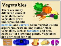 Buzzy's information about the tasty farm vegetables
