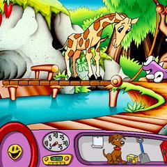 Putt-Putt and Masai the Giraffe