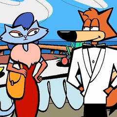 Spy Fox and Russian Blue