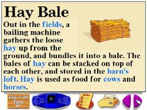 Buzzy's information about hay bales