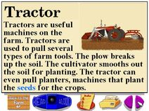 Buzzy's information about the farm tractors