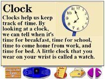 Buzzy's information about farm clocks