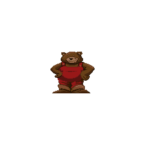 Fatty Bear as he appears in his first game.