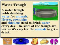 Buzzy's information about the farm water troughs
