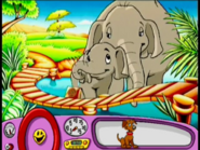 Baby Jambo holding a Trunk of Water