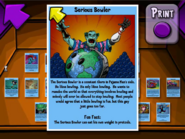 Serious Bowler Trading Card