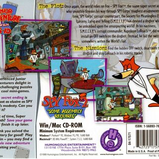 Back of the jewel case.