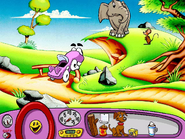 Putt-Putt Trying to Shoo