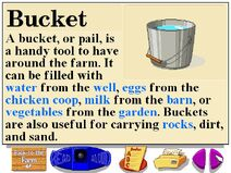 Buzzy's information about the farm buckets