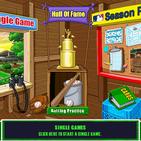 The Main Menu of <i>Backyard Baseball 2003</i>