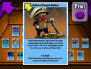 Admiral Peanut Butter Trading Card