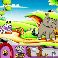 Putt-Putt and Baby Jambo the Elephant