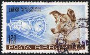 Laika Briefmarke