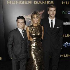 Josh Hutcherson, Jennifer Lawrence et Liam Hemsworth