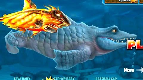 Hungry Shark Evolution Mr Snappy with new Lava Baby