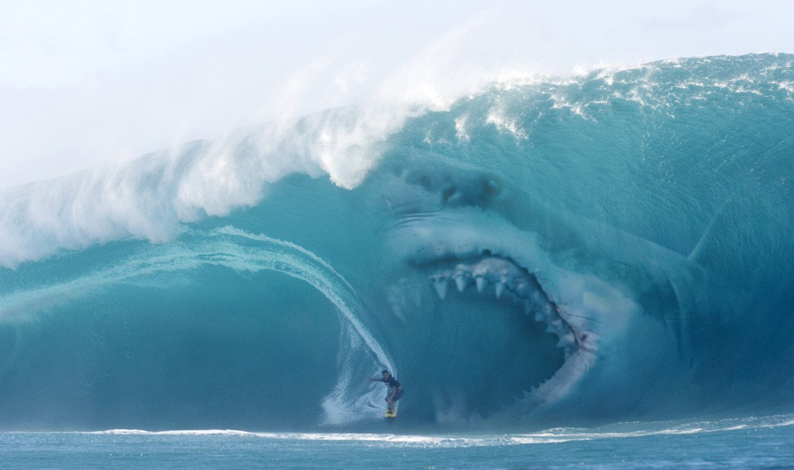 Image - Megalodon-in-wave-is-scary.jpg   Hungry Shark Wiki   FANDOM powered by Wikia