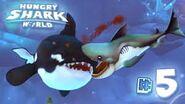 Megamouth shark devours a killer whale