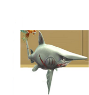 Evil goblin shark on the missions screens
