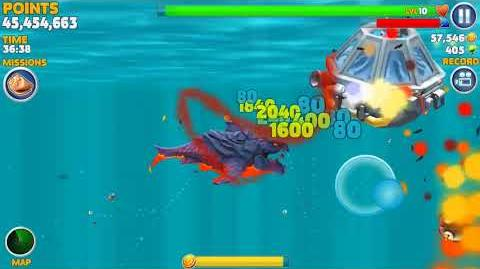 "Hungry Shark evolution ""Rain of Fire"" mission. Pyro Shark"