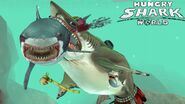 Megalodon player devuors an evil great white shark