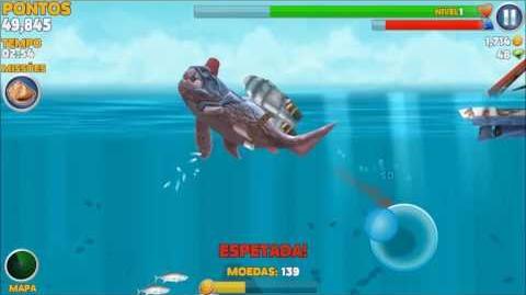 Hungry Shark Evolution 7 - Localização das missões do Papaizão (DUNKELOSTEUS)
