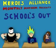 Heroes Alliance Monthly Mayhem June 2012 Cover - by Macattack