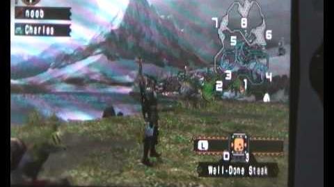 Monster Hunter Freedom Unite Anteka in the snow
