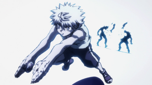Killua kills two chimera ant soldiers 113